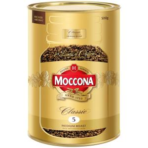 Moccona Classic Medium Roast Instant Coffee 500g Tin