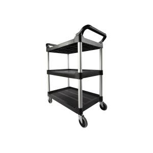 Rubbermaid Utility Cart Black 3424-88 47.3cmwx85.4cmlx95.9cmh