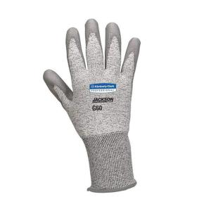 Jackson Safety 13827 G60 Polyurethane Coated Cut 3 Resistant Glove Light Grey/Dark Grey Size 11 Pair
