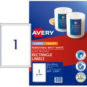 Avery Removable Multi-purpose Labels Printers - 199.6 x 289.1mm - 25 Labels (L7167REV)