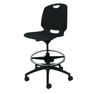 Proed Quest Task Chair 5 Star Nylon Base with Architectural Drafting Kit Black