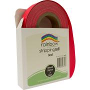 Rainbow Stripping Streamer Roll 25mmx30mm Red