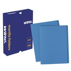 Winc Manilla Folder A4 Blue Box 100