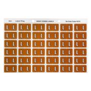 Avery L Side Tab Colour Coding Labels for Lateral Filing - 25 x 38mm - Mustard - 180 Labels
