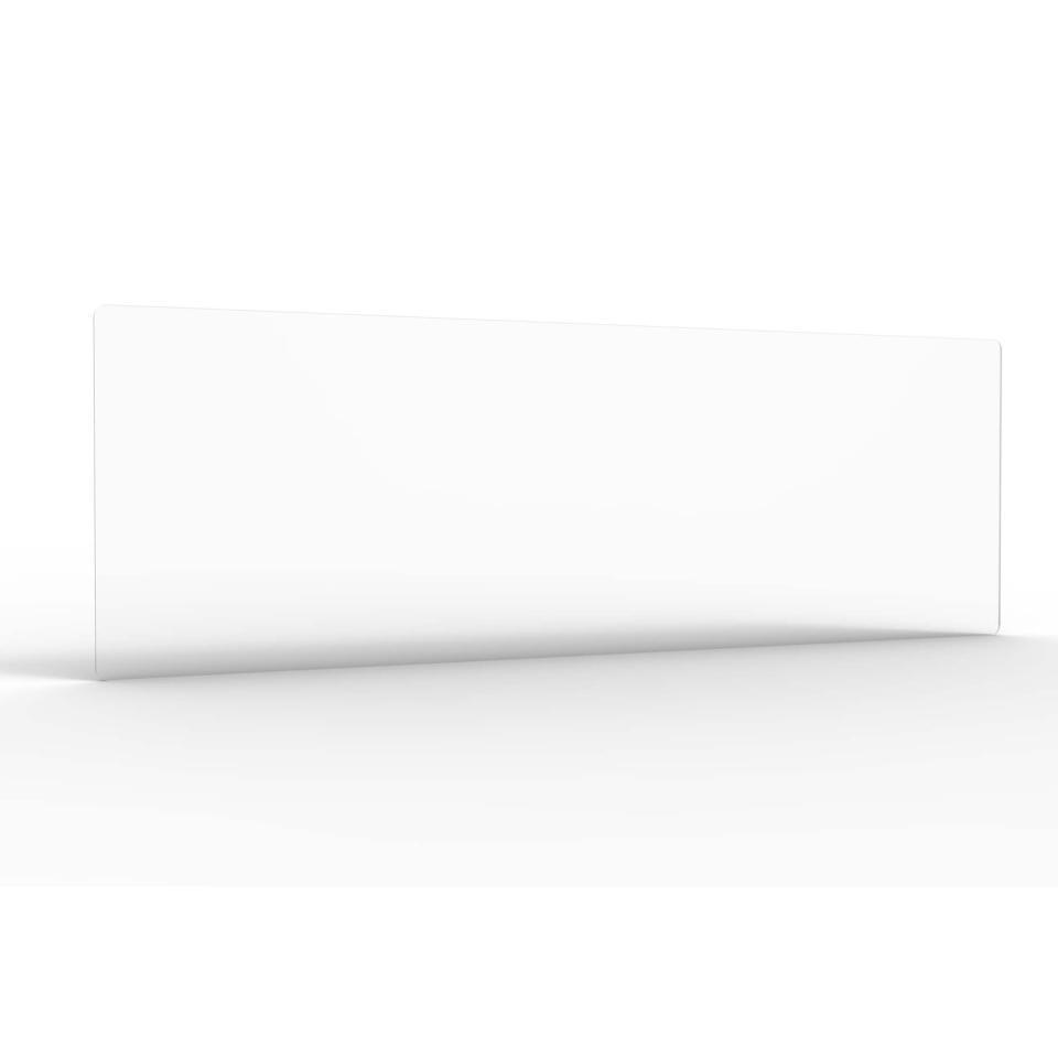 Large Acrylic Screen Radial Cut Corners 1780mmwx600mmhx8mmt  Acrylic Screen Crystal Clear Finish