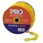 Paramount Safety Pcy825 Plastic Safety Chain Yellow 25m Roll