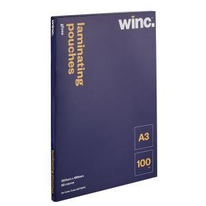 Winc A3 80 Micron Gloss Laminating Pouches 100 Pack