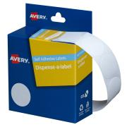 Avery White Circle Dispenser Labels - 24mm diameter - 550 Labels - Hand writable