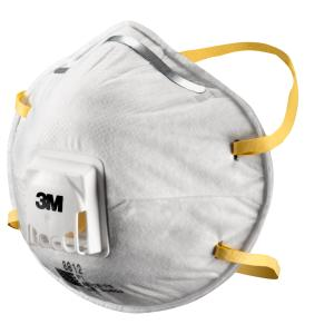3m-8812 P1 Valved Dust/Mist Respirator Box 10