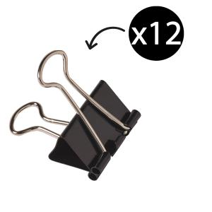 Winc 19mm Foldback Clips Box 12