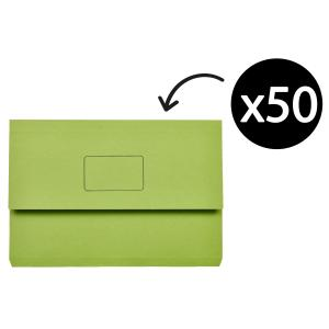 Marbig Slimpick Document Wallet Green Box 50