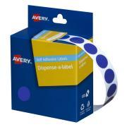 Avery Blue Circle Dispenser Labels - 14mm diameter - 1050 Labels