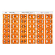 Avery O Side Tab Colour Coding Labels for Lateral Filing - 25 x 38mm - Orange - 180 Labels