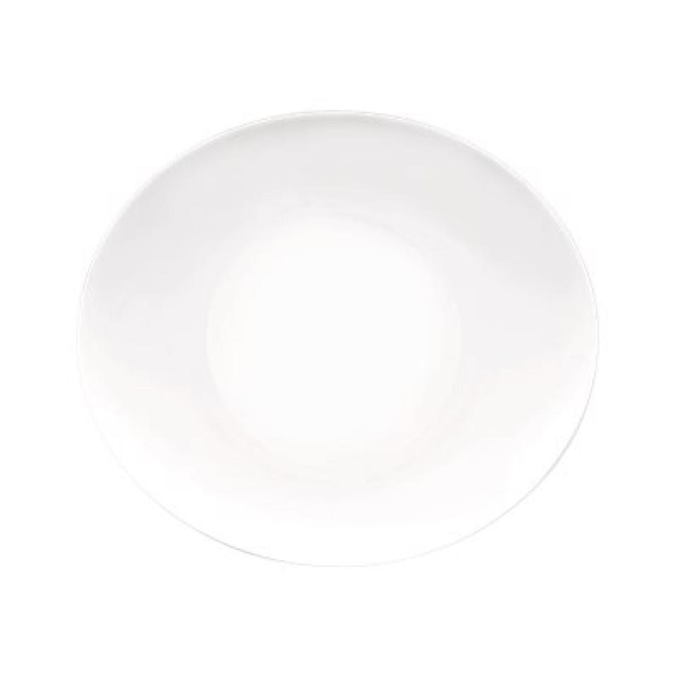 Bormioli Rocco Prometeo Oval Platter 270X240mm Coupe White Box 24