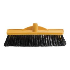 Oates 350mm Medium Stiff Poly Broom Head Only Yellow