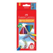 Faber-Castell Triangular Coloured Pencils Pack 20