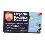 Micador Large Oil Pastels Colourfun Lid 12S