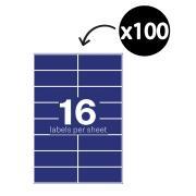Winc Laser Labels 105x37mm 16 Per Sheet Pack of 100 Sheets