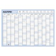 Milford Laminated Framed Board Planner 2021 1000 X 700 mm