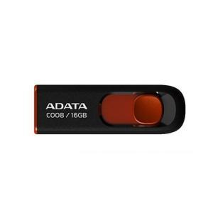 ADATA C008 Capless Sliding 16 GB USB 2.0 Flash Drive - Black