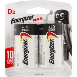 Energizer Max 1.5V Alkaline D Battery Pack 2