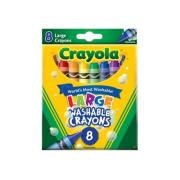 Crayola Washable Large Crayons Pkt 8
