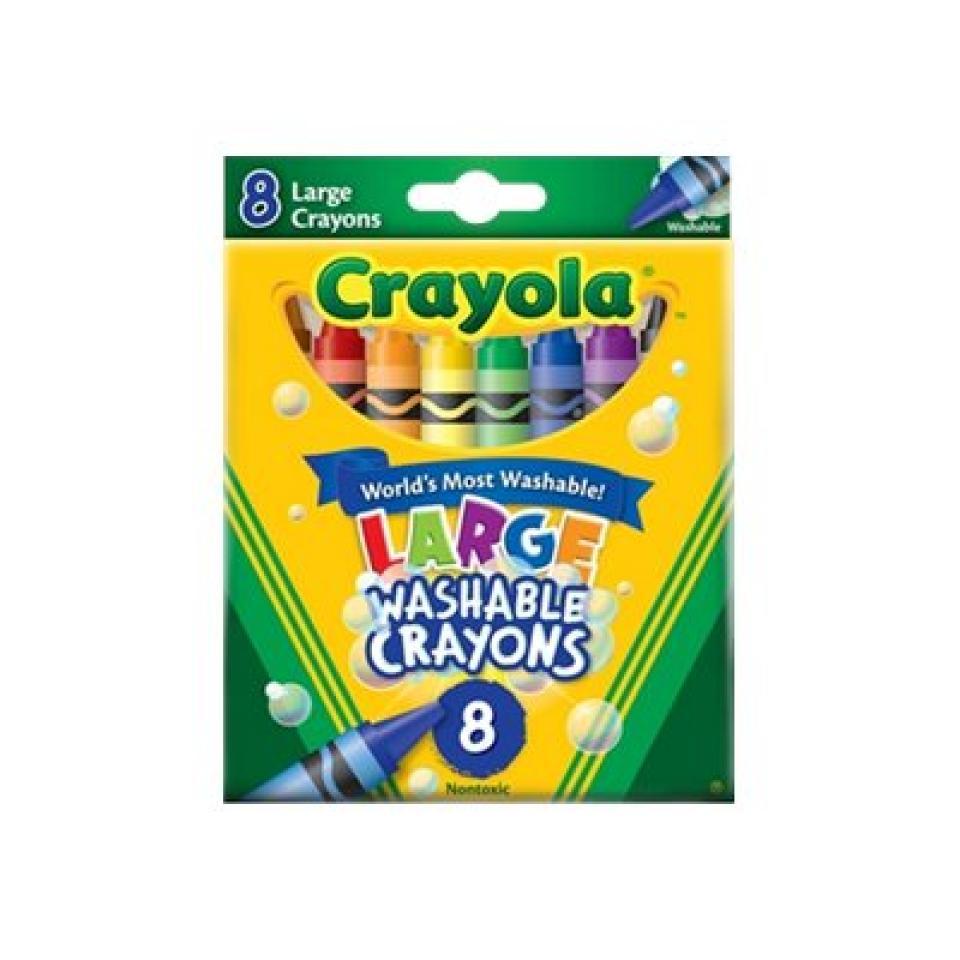 Crayola Washable Large Crayons Pkt 8