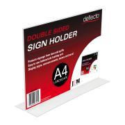 Deflecto A4 Landscape Stand-Up Menu / Sign Holder