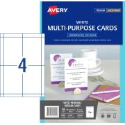 Avery Multi-Purpose Cards - 139.37 x 97.29mm - 100 cards - 150g/m2 (L7421)