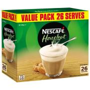 Nescafe Cafe Menu Hazelnut Coffee Sticks 18g Box 26