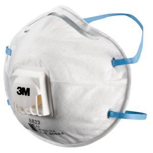 3m 8822 P2 Valved Partic Respirators Box 10