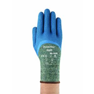 Ansell 80-658 Glove Powerflex Latex Palm Extended Cuff Kevlar Liner Cut 5 Blue Pair