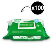 Clinell BCW100AUS Universal  Disinfectant Wipes Hospital Grade  Pack 100