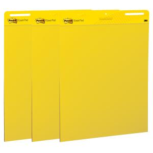 Post-it Super Sticky Easel Pad Bright Yellow 635 x 762mm Pack 3