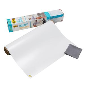 Post-It Dry Erase Surface 900mm X 600mm With Cleaning Cloth