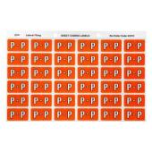 Avery P Side Tab Colour Coding Labels for Lateral Filing - 25 x 38mm - Dark Orange - 180 Labels