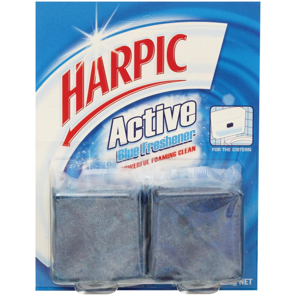 Harpic Active 008481 Toilet Disinfectants Foaming Blue Block Twin 114g