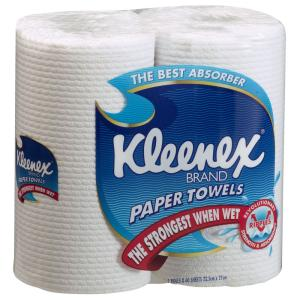 Kleenex kitchen roll towel 2 ply 60 sheet pkt2 staples for Uses for paper towel rolls