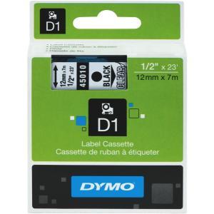 Dymo D1 Label Printer Tape 12mmx7m Black On Clear