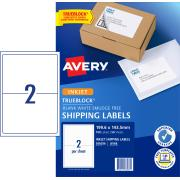 Avery Shipping Labels with TrueBlock for Inkjet Printers - 199.6 x 143.5mm - 100 Labels (J8168)