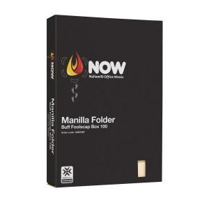 Nallawilli Manilla Folder Foolscap Buff Box 100