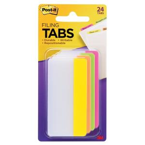 Tab Adhesive 3M Post-it 686-ploy3in 75x38mm Asstd Clrs