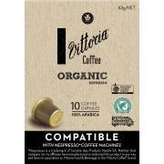 Vittoria Coffee Capsules Organic Espresso Box 10