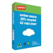 Winc Carbon Neutral 20% Recycled A3 Copy Paper 80gsm White Ream 500