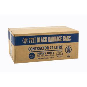 Austar Bin Liners Contractor Heavy Duty 72 Litre Black Packet 50 Carton 250