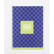 Telethon Kids Institute Spiral Notebook A4 120Page Purple Cover