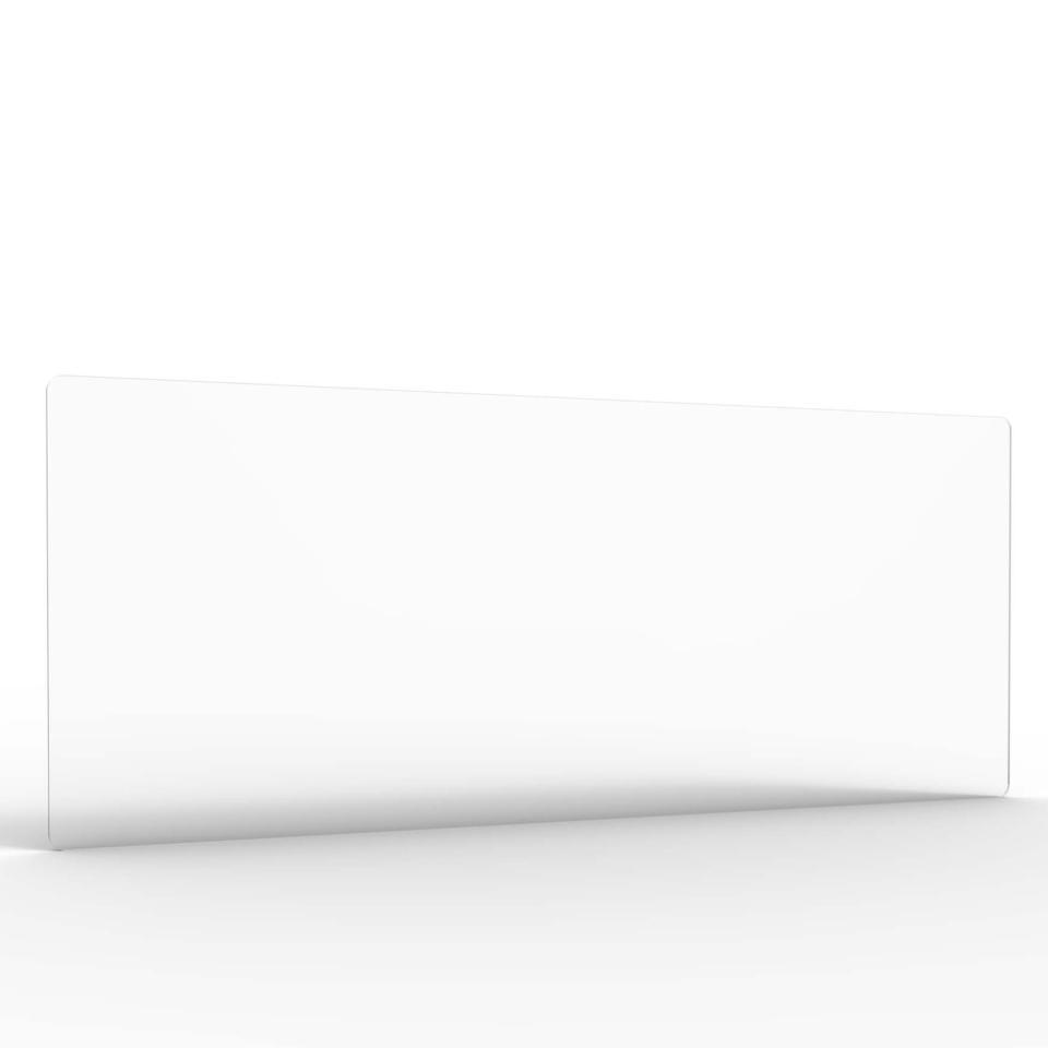 Acrylic Screen Radial Cut Corners 1480W x 600H x 8T mm Crystal Clear Finish Medium