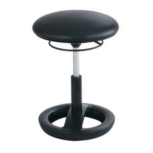 Safco Twixt Chair Desk Height Black Vinyl