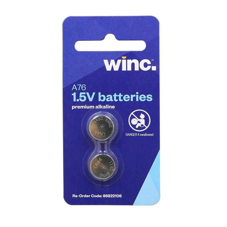 Winc A76 1.5V Premium Coin Battery Pack 2