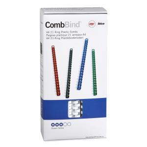 GBC 21 Loop A4 Plastic Binding Combs - 14 mm - White - 100-Pack